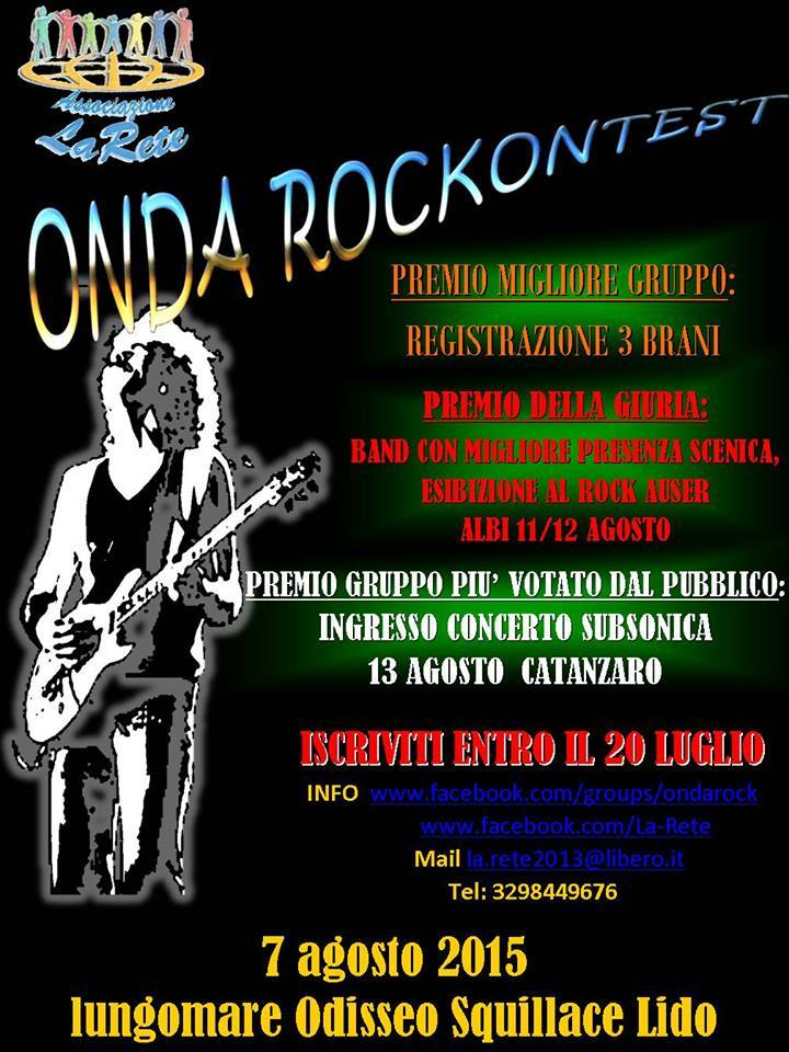 OndaRocK Contest 2015 Squillace Lido